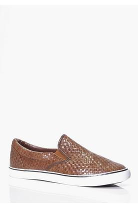 PU Woven Plimsolls With Chambray Inner