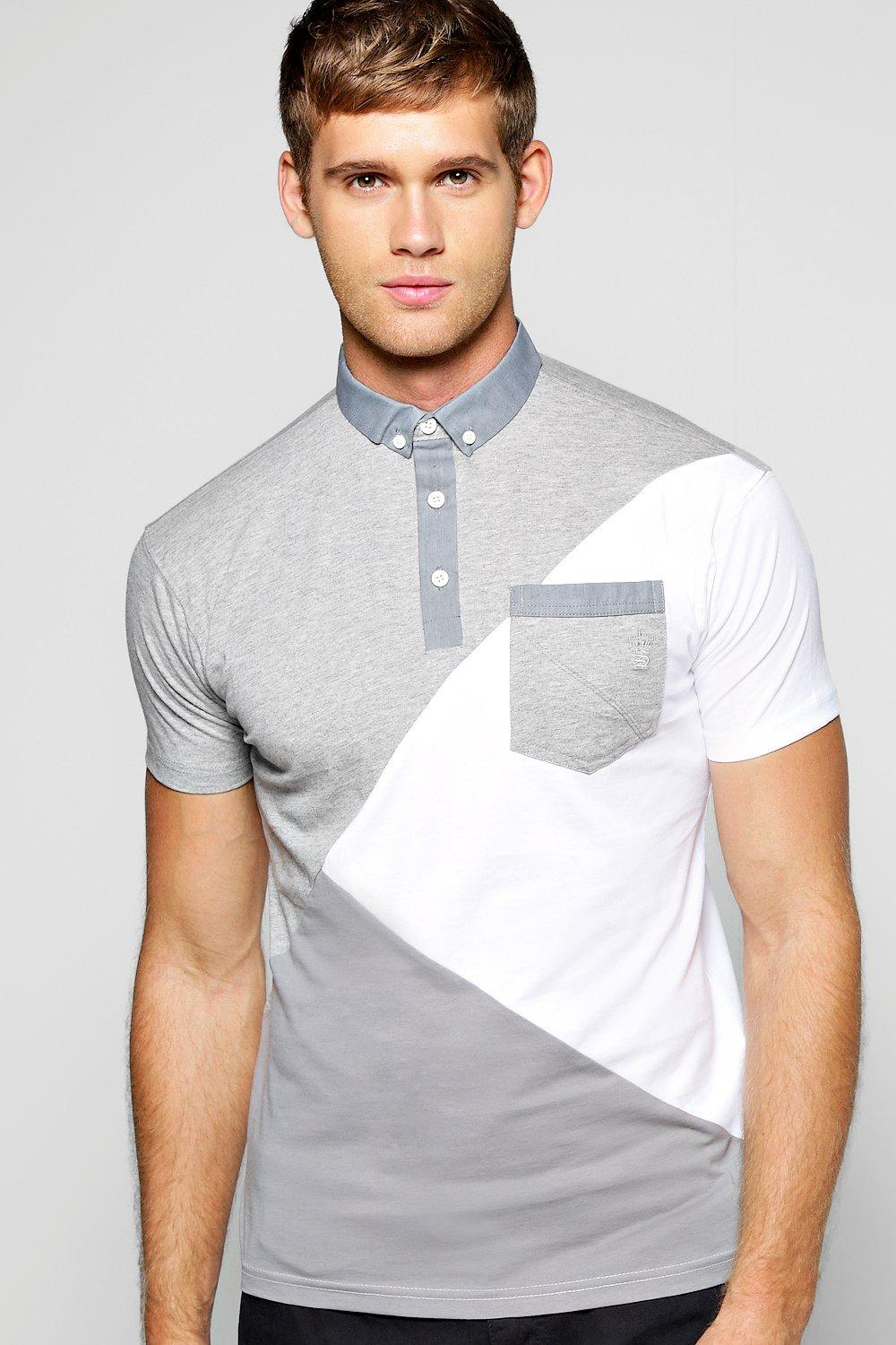Spliced Colour Block Polo