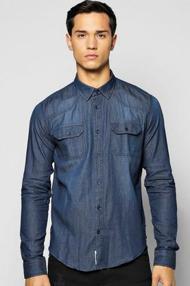 Utility Pocket Denim Shirt