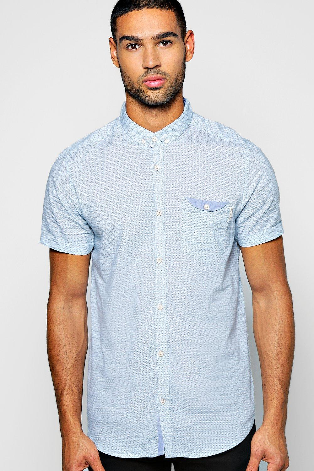 Short Sleeve All Over Diamond Print Shirt