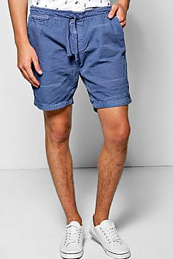 Washed Canvas Chino Shorts