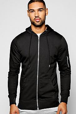 MA1 Zip Through Hoodie