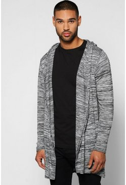 Slub Hooded Fishtail Cardigan