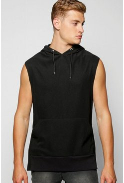 Sleeveless Hooded Top In Tricot