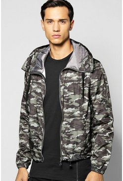 Camo Hooded Bomber