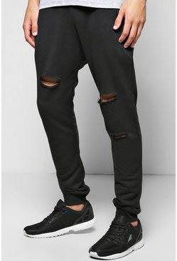 Skinny Fit Destroyed Joggers