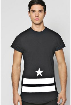 Stars And Stripes Skater Length T Shirt