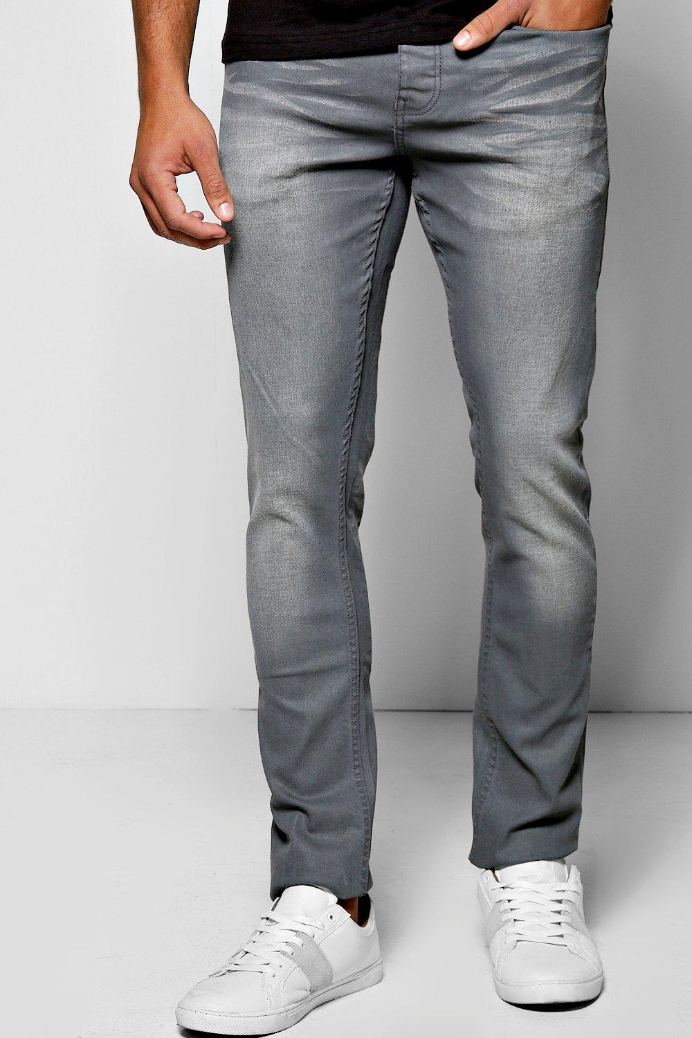 Slim Fit Slate Grey Jean with Sandblasting