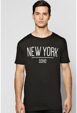 Longline New York T Shirt