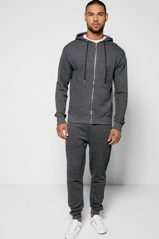 Cotton Pique Zip Through Tracksuit