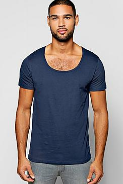 Basic Scoop Neck T Shirt