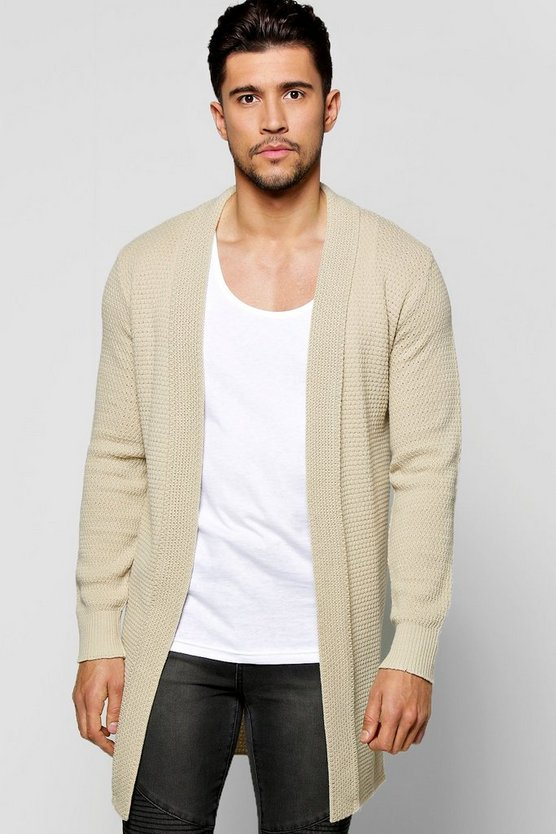 Elongated Textured Cardigan