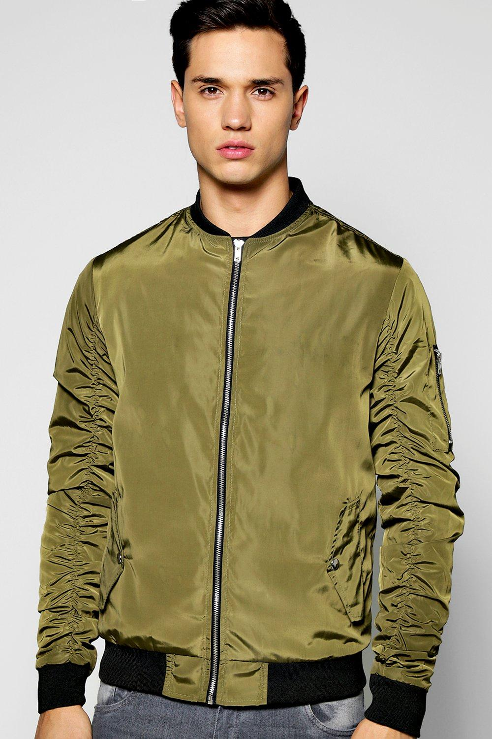 Nylon Bomber With Parachute Sleeves