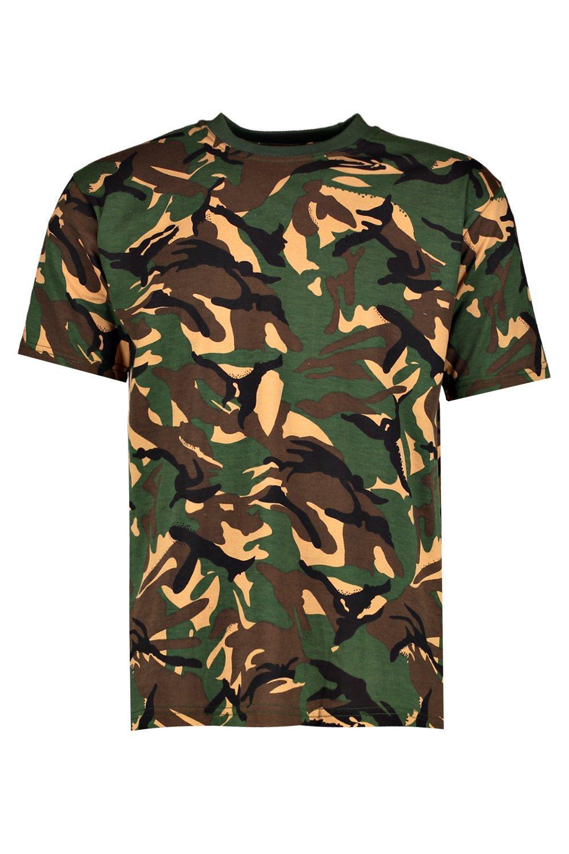 Loose fit camo print t shirt for Camo print t shirt