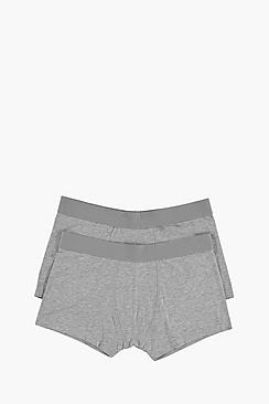 2 Pack Plain Grey Trunks