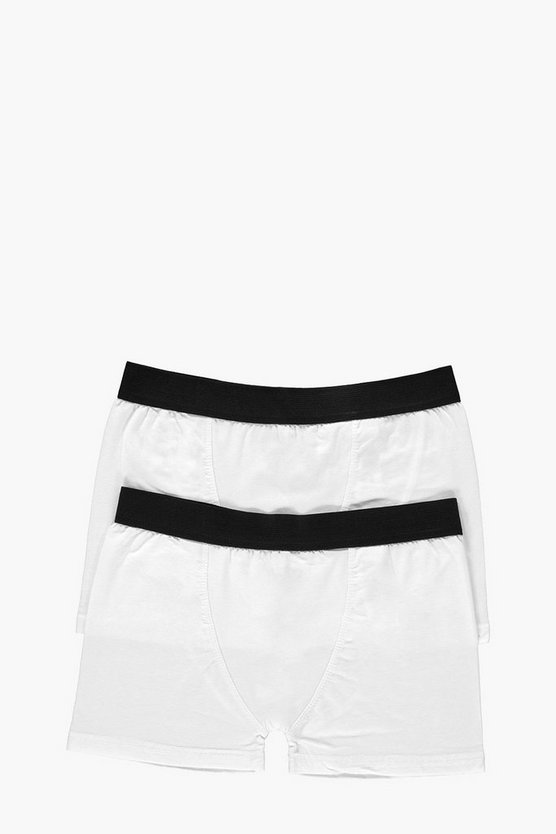 2 Pack Plain White Trunks