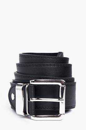 Double Stitched Leather Lined Belt