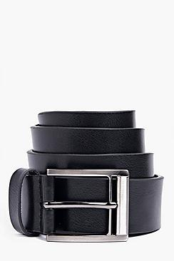 Black Faux Leather Belt