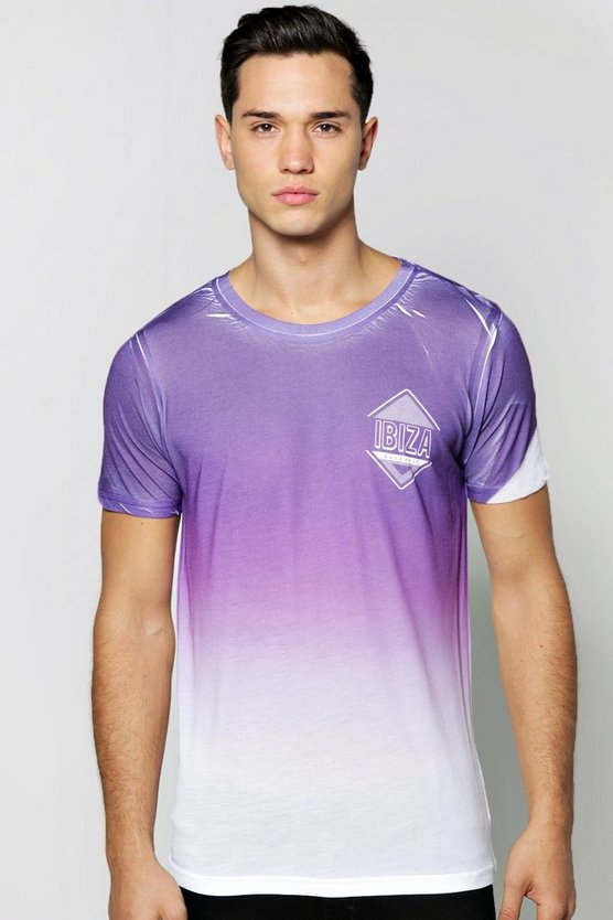 Ibiza Faded Sublimation T Shirt