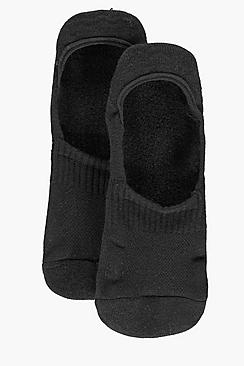 Image of 2 Pack Plain Invisible Socks With Grips