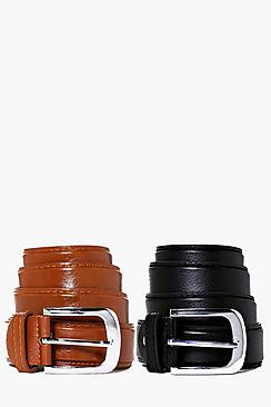 Image of 2 Pack Leather Look Belt Multipack