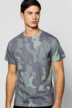 Khaki Camo Sublimation T Shirt
