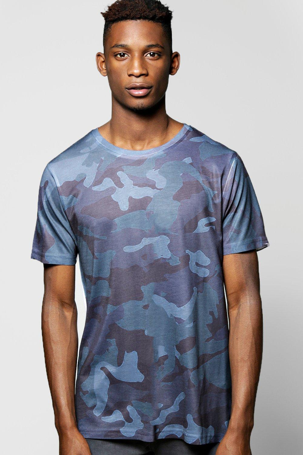 Blue Camo Sublimation T Shirt