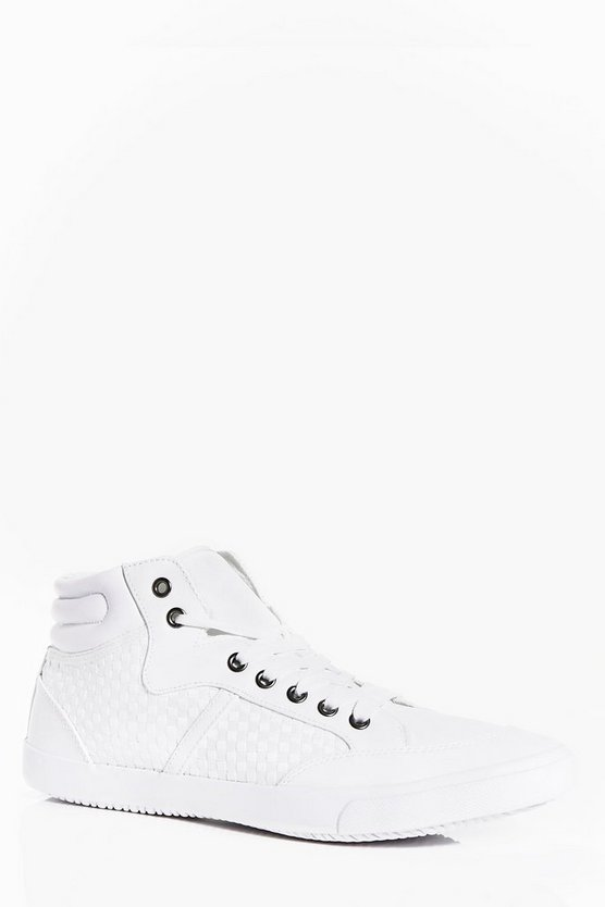 Lace Up Contrast Fabric Hi Tops