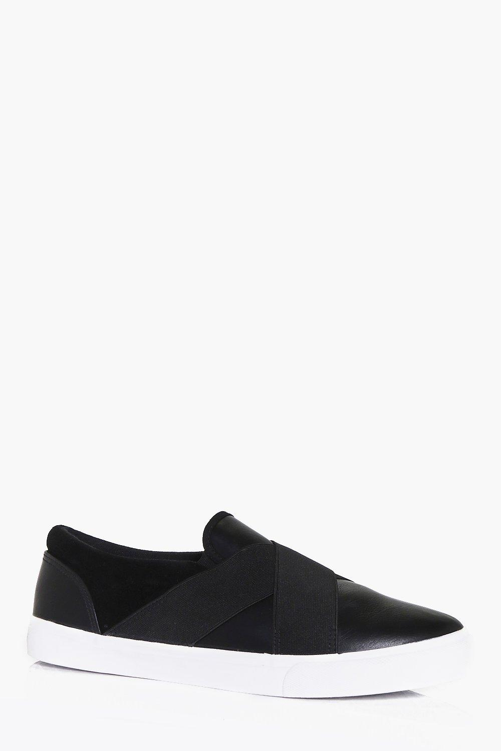 Slip On Cross Panel Plimsolls