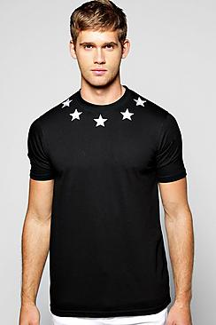 boohooStar Embroidered T Shirt