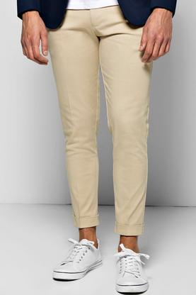 Skinny Stretch Cropped Chino With Belt