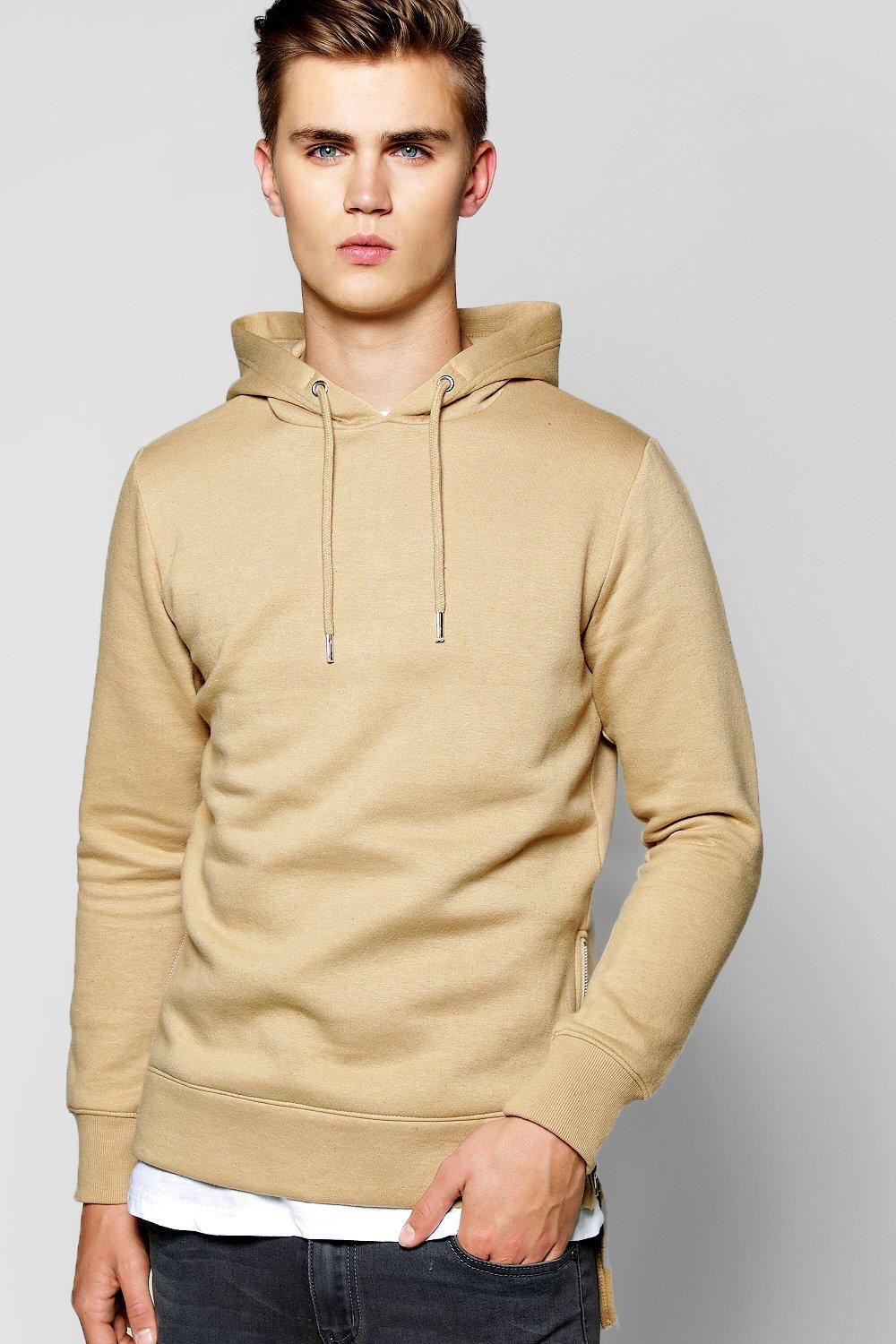 Over The Head Zip Detail Hoodie