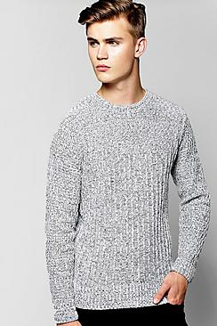 Space Mix Drop Stitch Jumper