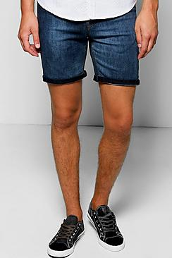 Gradient Faded Shorts With Turn Up