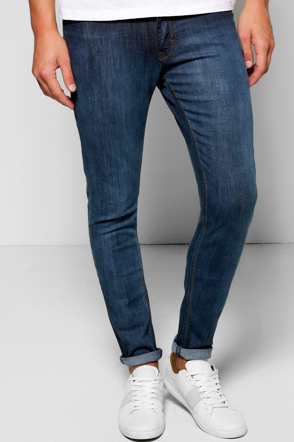Skinny Fit Gradient Faded Jeans
