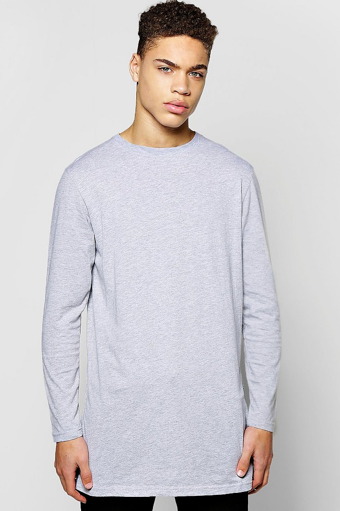 Longline T Shirt With Side Zips