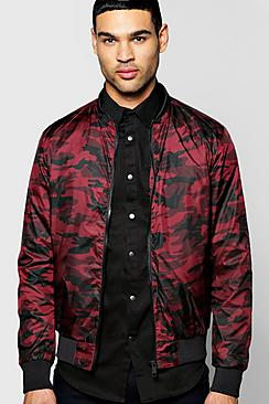 All Over Camo Bomber Jacket