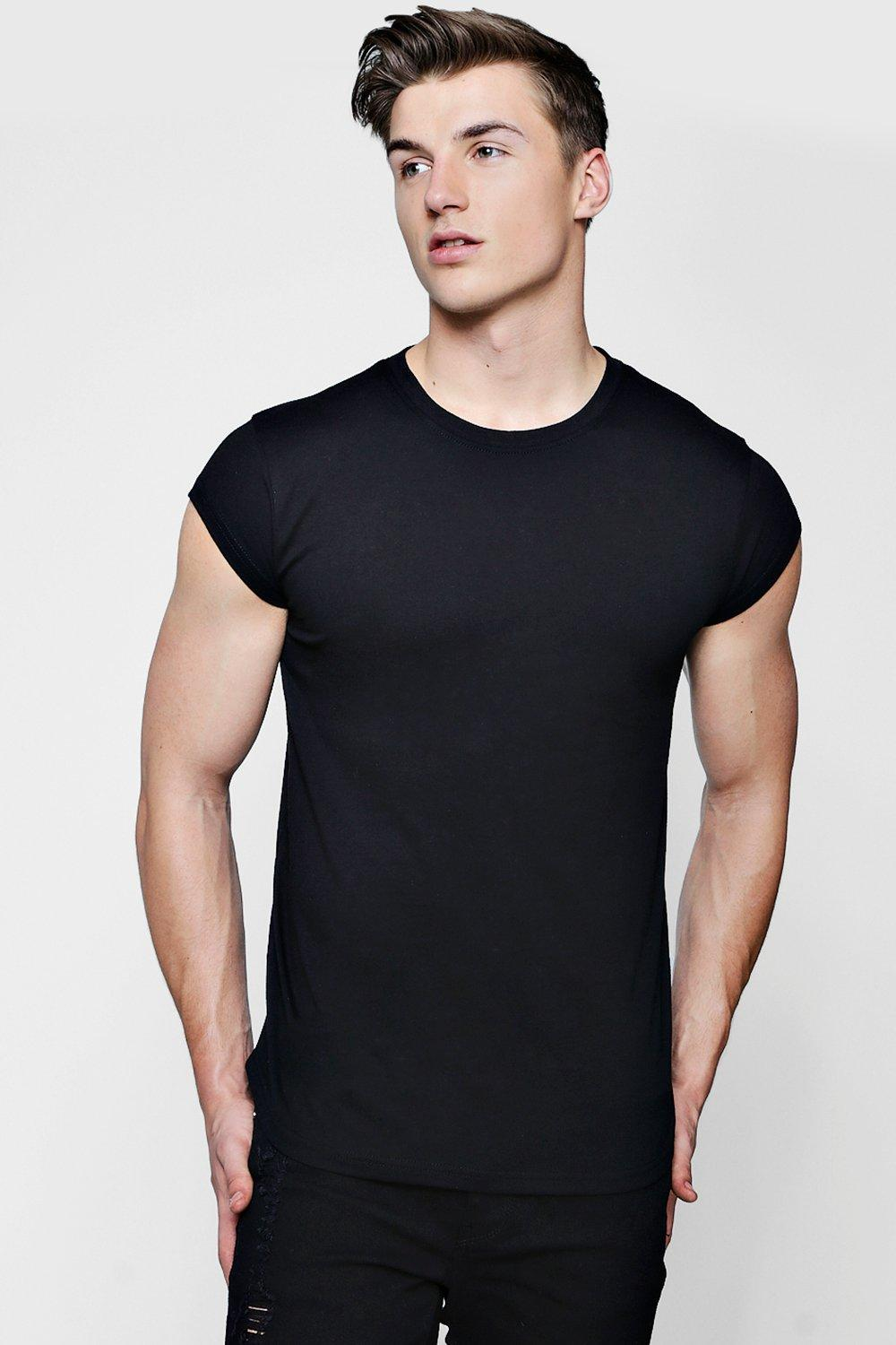 Black t shirt man - Hover To Zoom