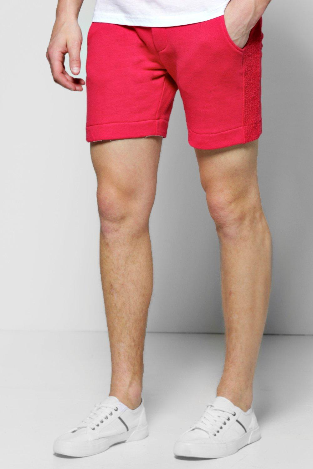 Jersey Shorts With Reverse Panels