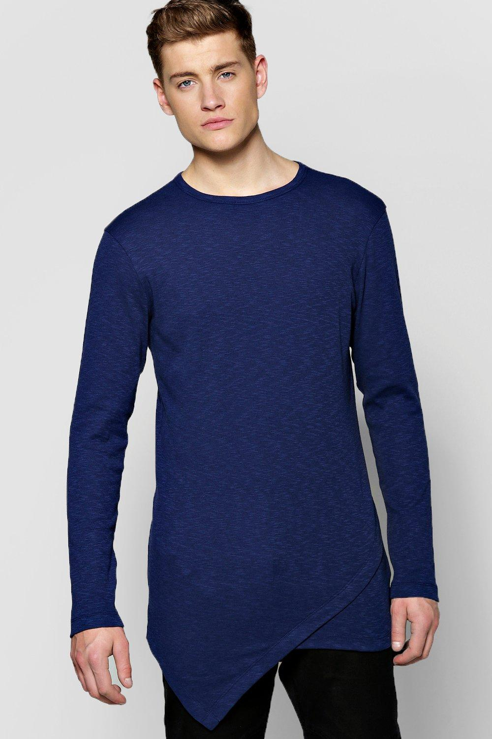 Asymmetric Panel TShirt In Slub