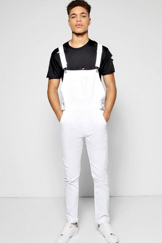 Skinny Fit Dungarees. Show off your figure to perfection in a pair of our must-have skinny fit dungarees. At Dungarees-Online our figure-hugging women's slim leg dungarees and bib overalls are available in UK sizes 6 - 16 in most styles.