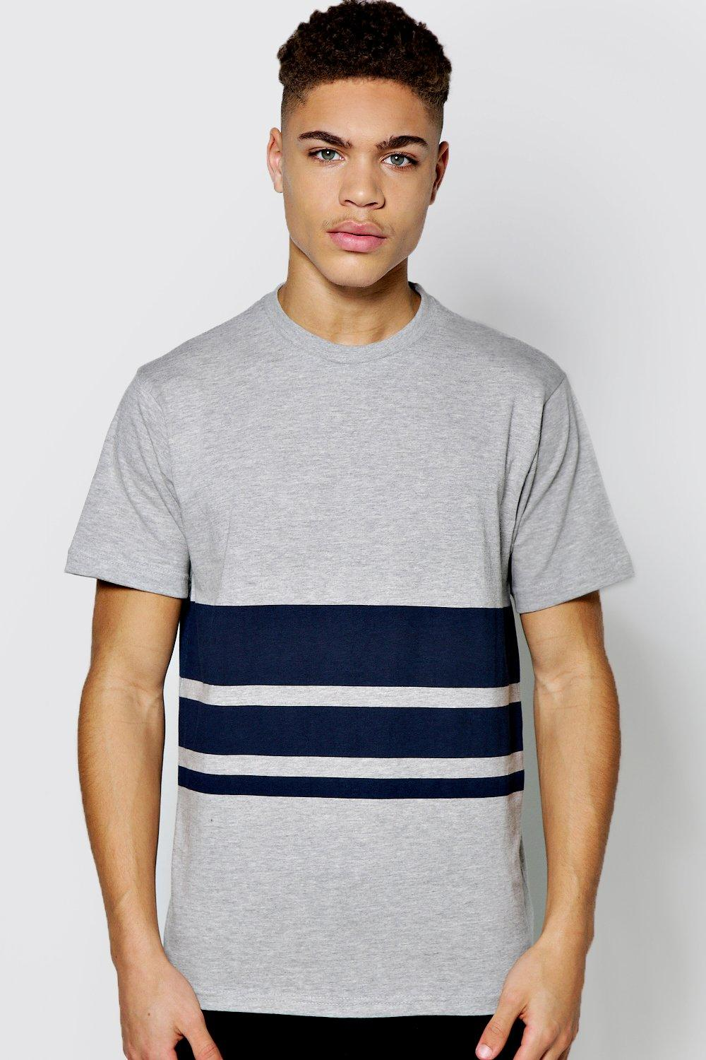Block Stripe Crew Neck TShirt