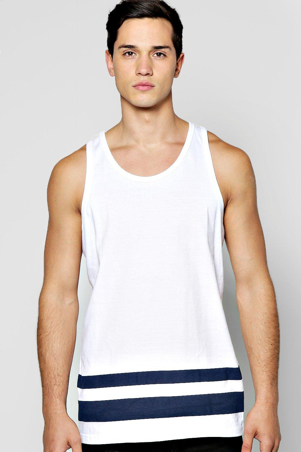 Panel Stripe Crew Neck Vest