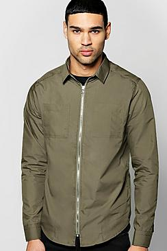 Zip Through Utility Shirt