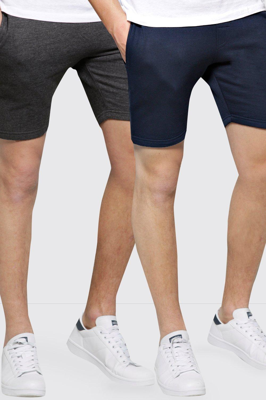 Image of boohoo 2 Pack Jersey Jog Shorts - multi