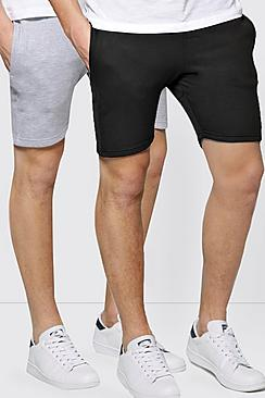 2 Pack Jersey Jog Shorts