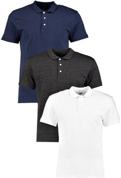3 Pack Slim Fit Polos