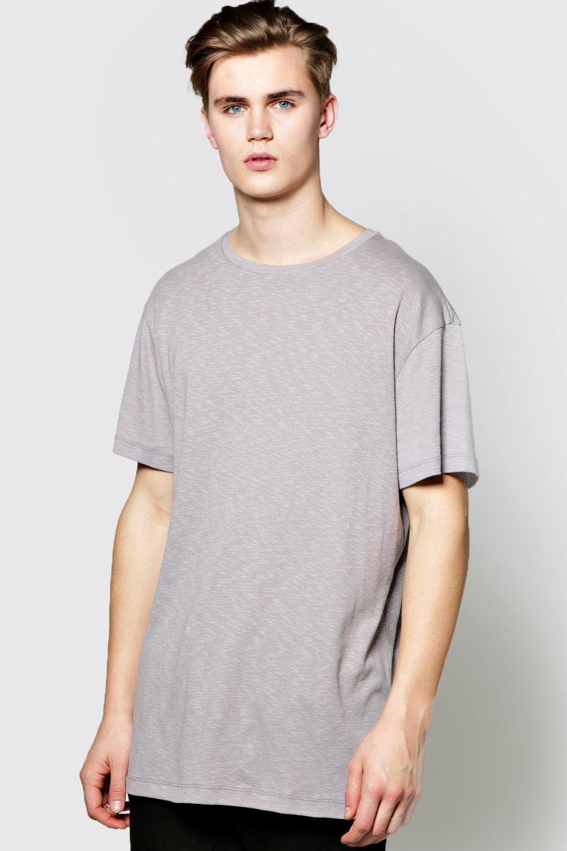 Boohoo mens slub stretch ribbed t shirt ebay for What is a slub shirt