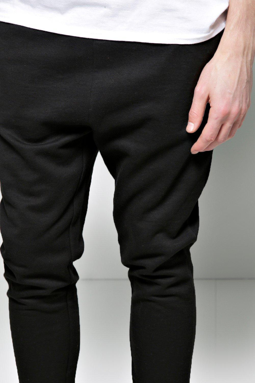 boohoo herren leichte jogginghose mit tiefem schritt ebay. Black Bedroom Furniture Sets. Home Design Ideas