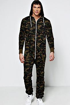 Camo Hooded Onesie